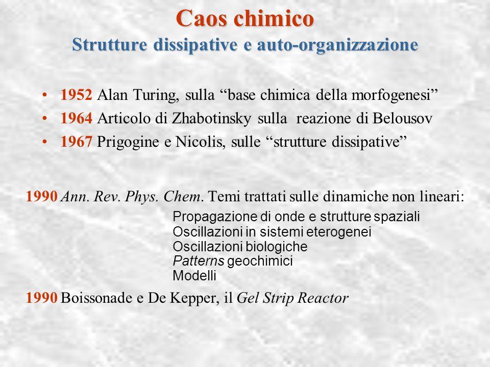 Caos chimico Strutture dissipative e auto-organizzazione