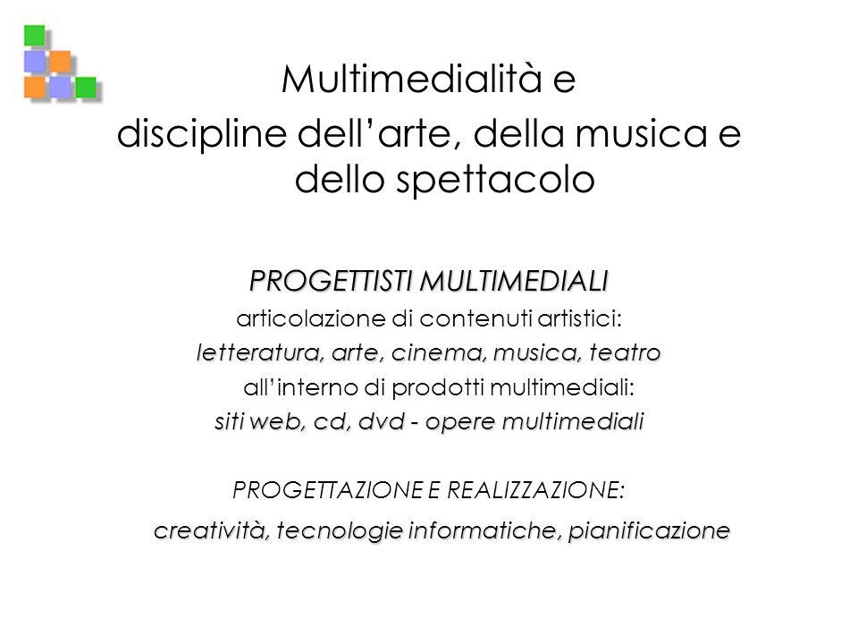 discipline dell'arte, della musica e dello spettacolo