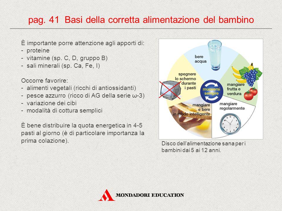 pag. 41 Basi della corretta alimentazione del bambino