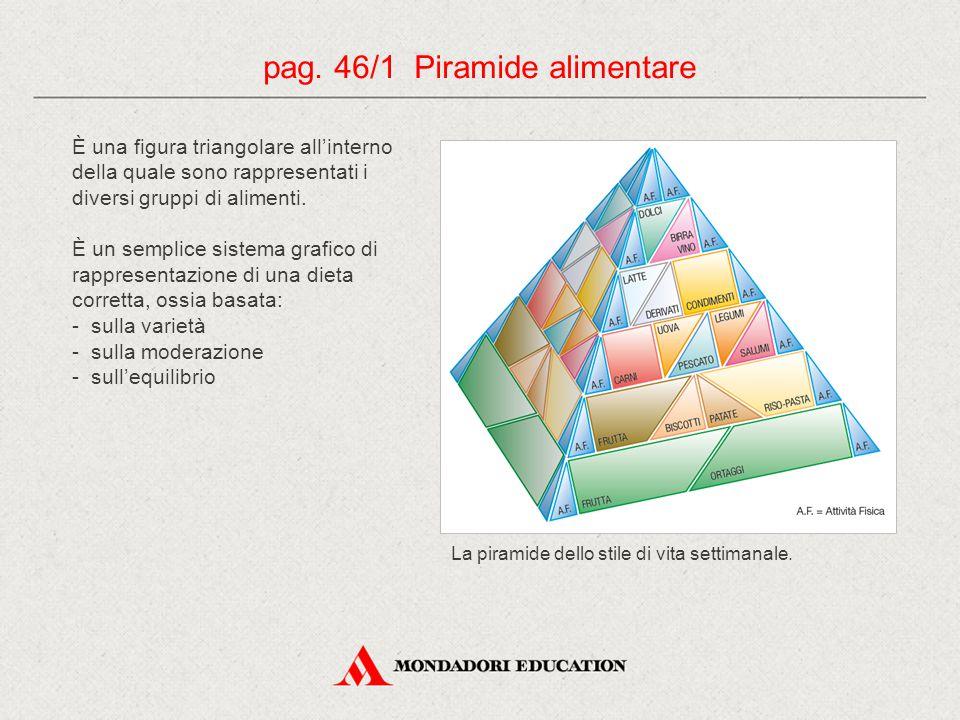 pag. 46/1 Piramide alimentare