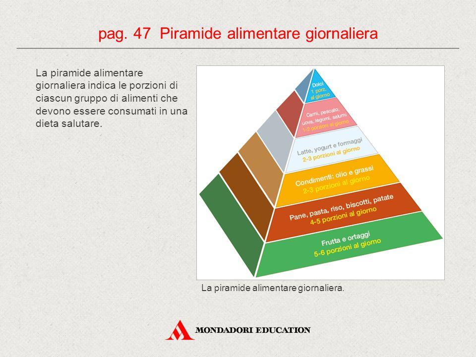 pag. 47 Piramide alimentare giornaliera
