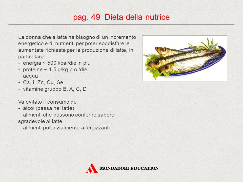 pag. 49 Dieta della nutrice