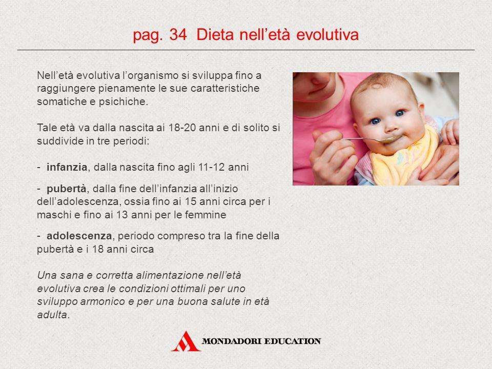 pag. 34 Dieta nell'età evolutiva