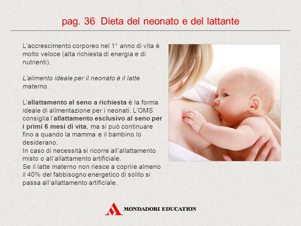 pag. 36 Dieta del neonato e del lattante