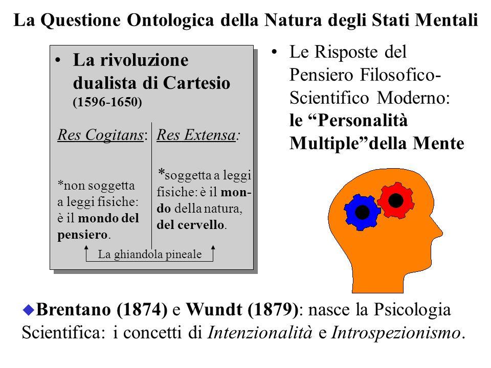 La Questione Ontologica della Natura degli Stati Mentali