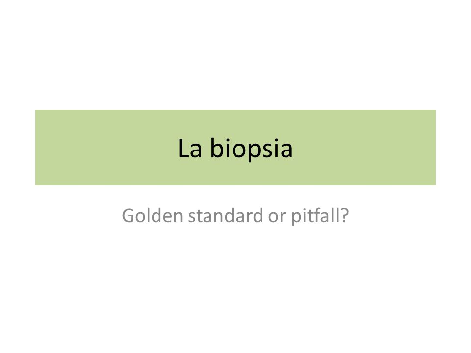 Golden standard or pitfall
