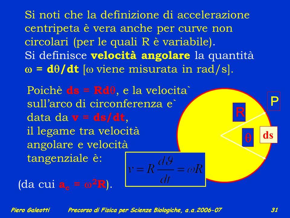 Si noti che la definizione di accelerazione centripeta è vera anche per curve non circolari (per le quali R è variabile).