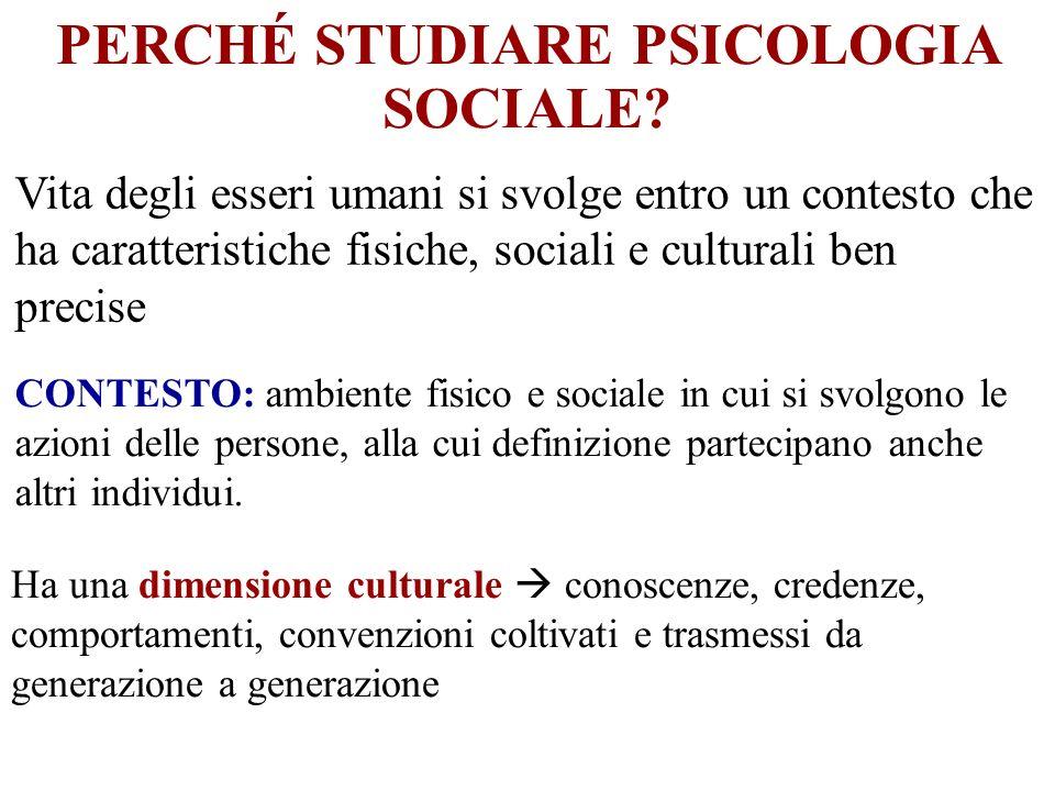 PERCHÉ STUDIARE PSICOLOGIA SOCIALE