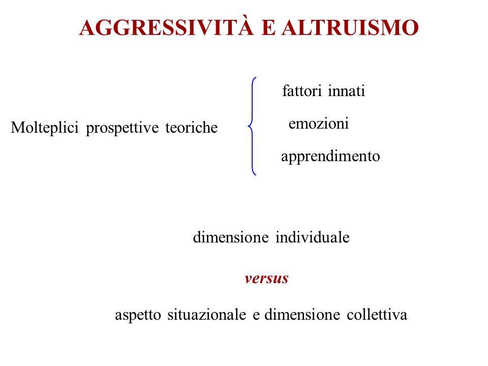 AGGRESSIVITÀ E ALTRUISMO