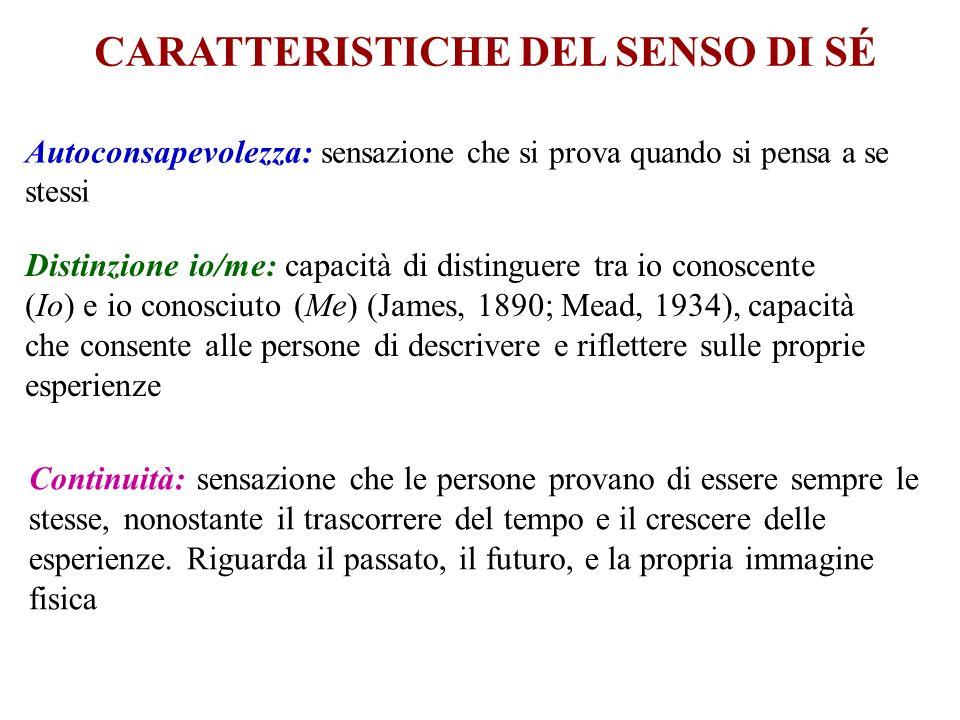 CARATTERISTICHE DEL SENSO DI SÉ