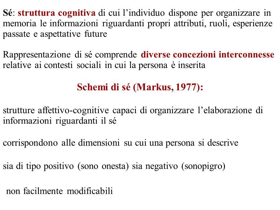 Sé: struttura cognitiva di cui l'individuo dispone per organizzare in memoria le informazioni riguardanti propri attributi, ruoli, esperienze passate e aspettative future