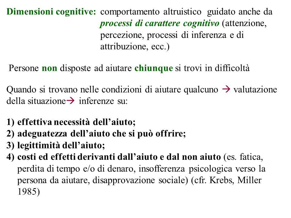 Dimensioni cognitive: