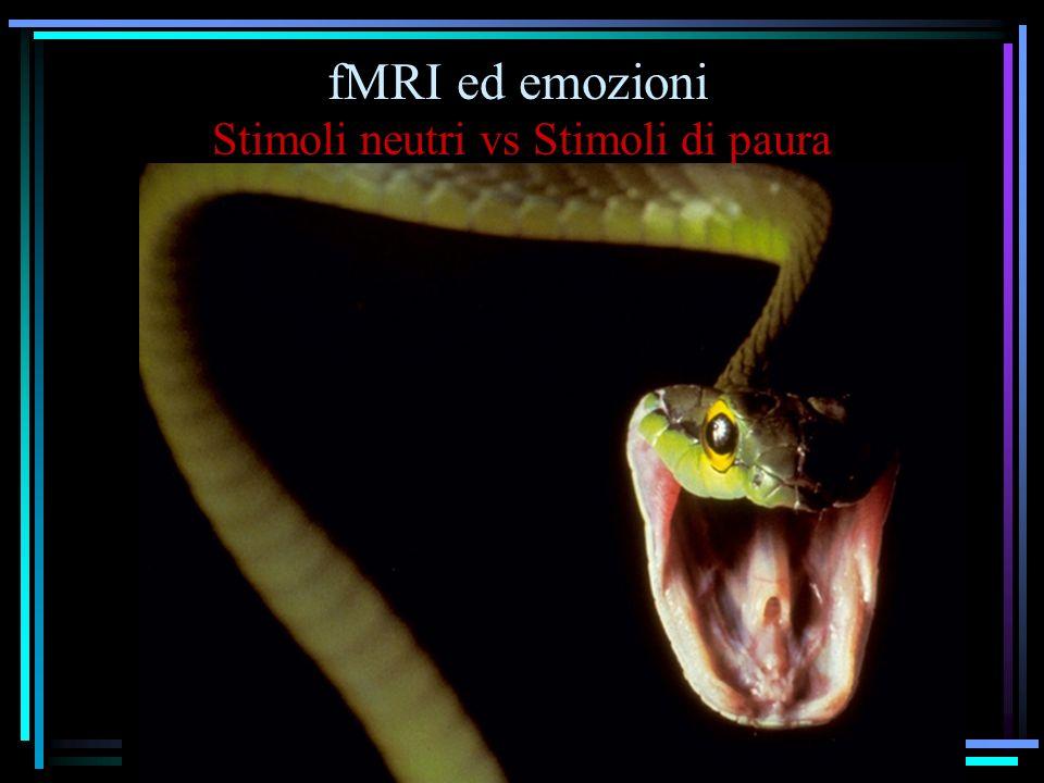 Stimoli neutri vs Stimoli di paura