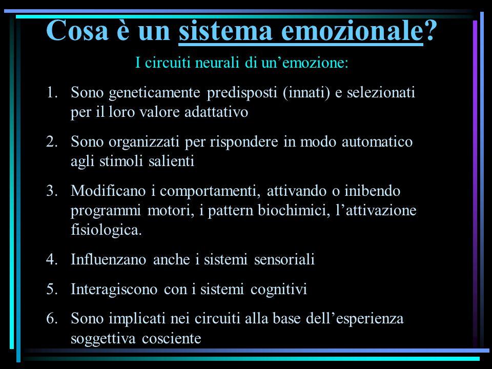 Cosa è un sistema emozionale