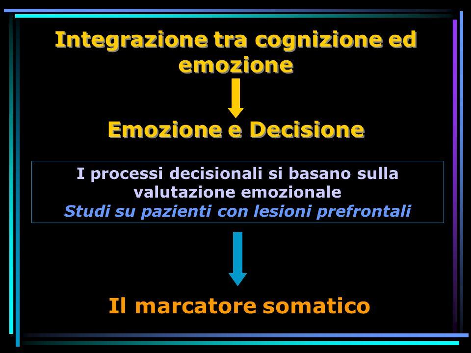 Integrazione tra cognizione ed emozione
