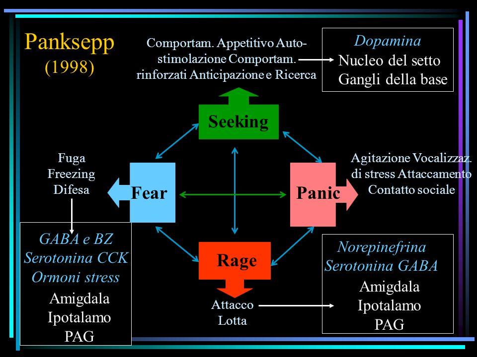 Panksepp (1998) Seeking Fear Panic Rage Dopamina
