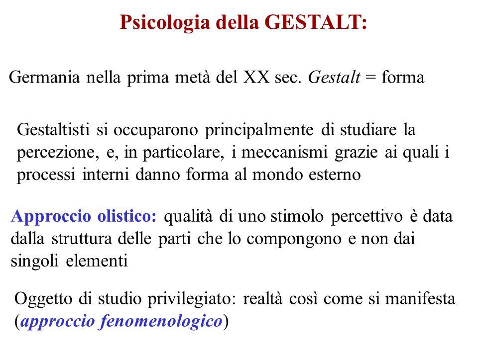 Psicologia della GESTALT: