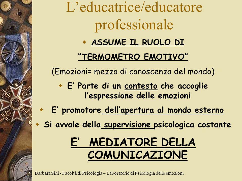L'educatrice/educatore professionale