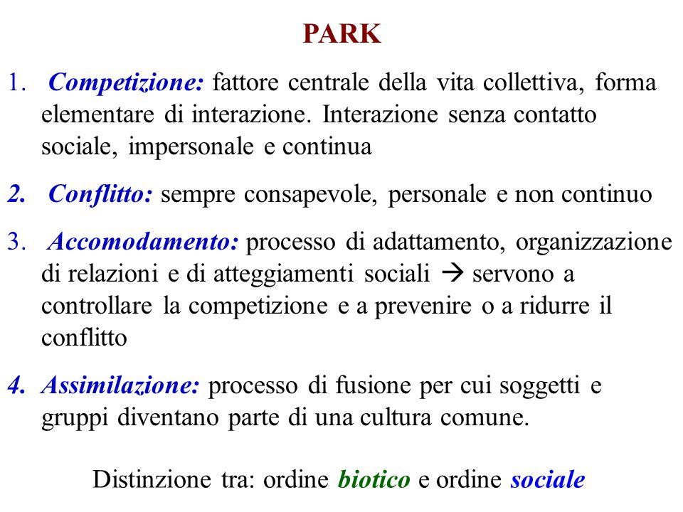 Distinzione tra: ordine biotico e ordine sociale