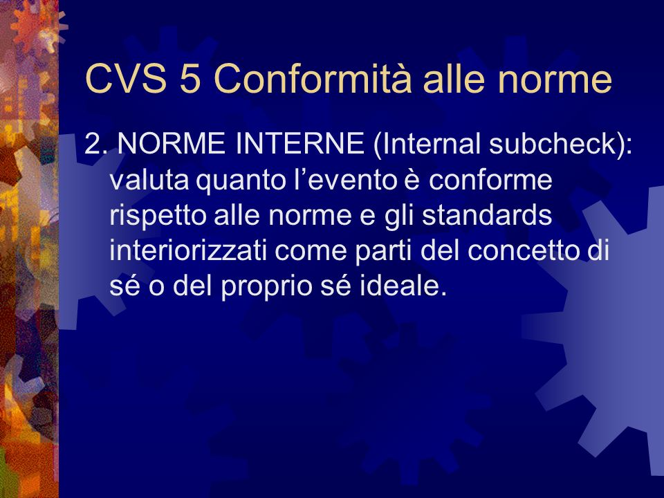 CVS 5 Conformità alle norme