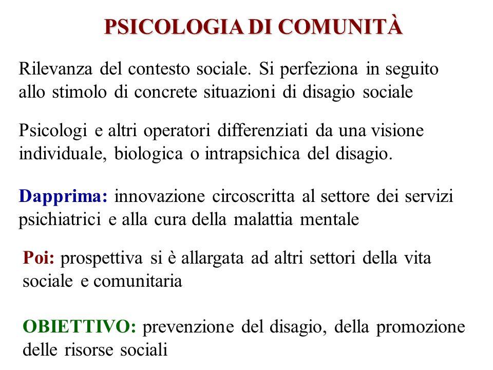 PSICOLOGIA DI COMUNITÀ