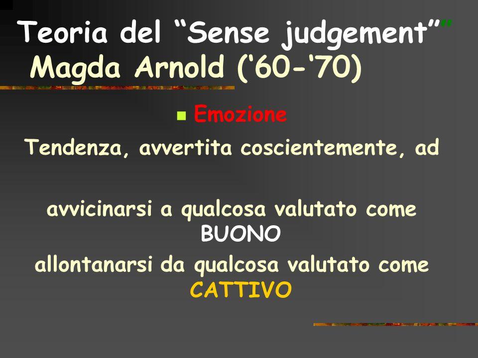 Teoria del Sense judgement Magda Arnold ('60-'70)