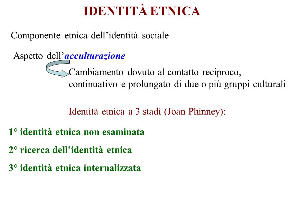 Identità etnica a 3 stadi (Joan Phinney):