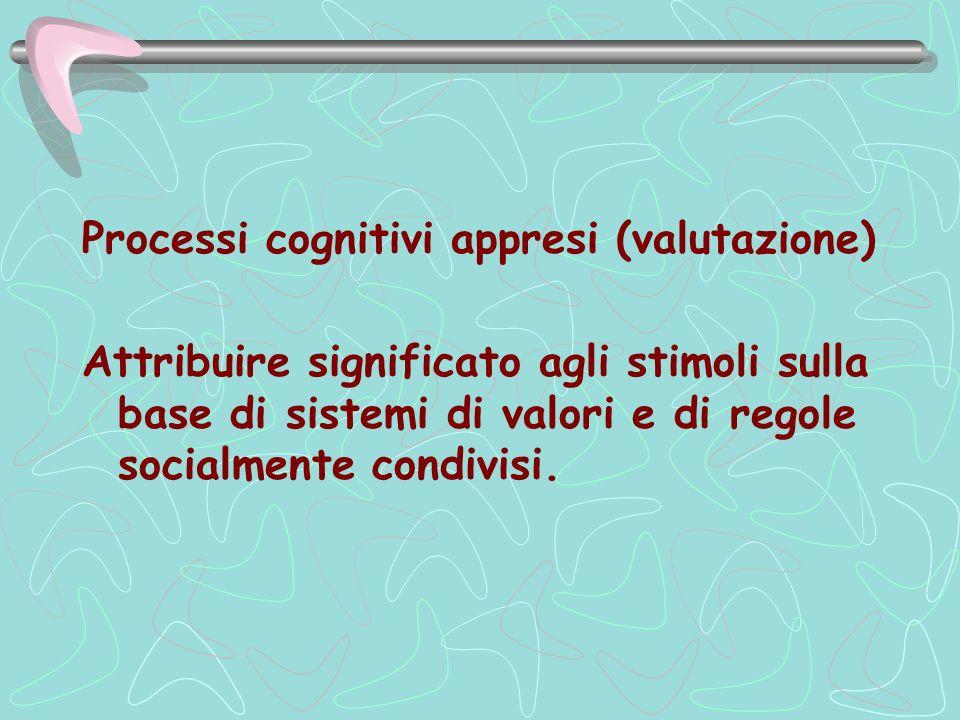 Processi cognitivi appresi (valutazione)