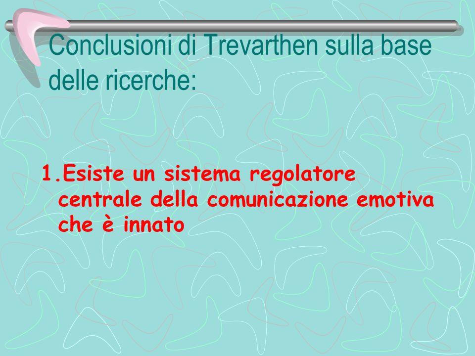 Conclusioni di Trevarthen sulla base delle ricerche: