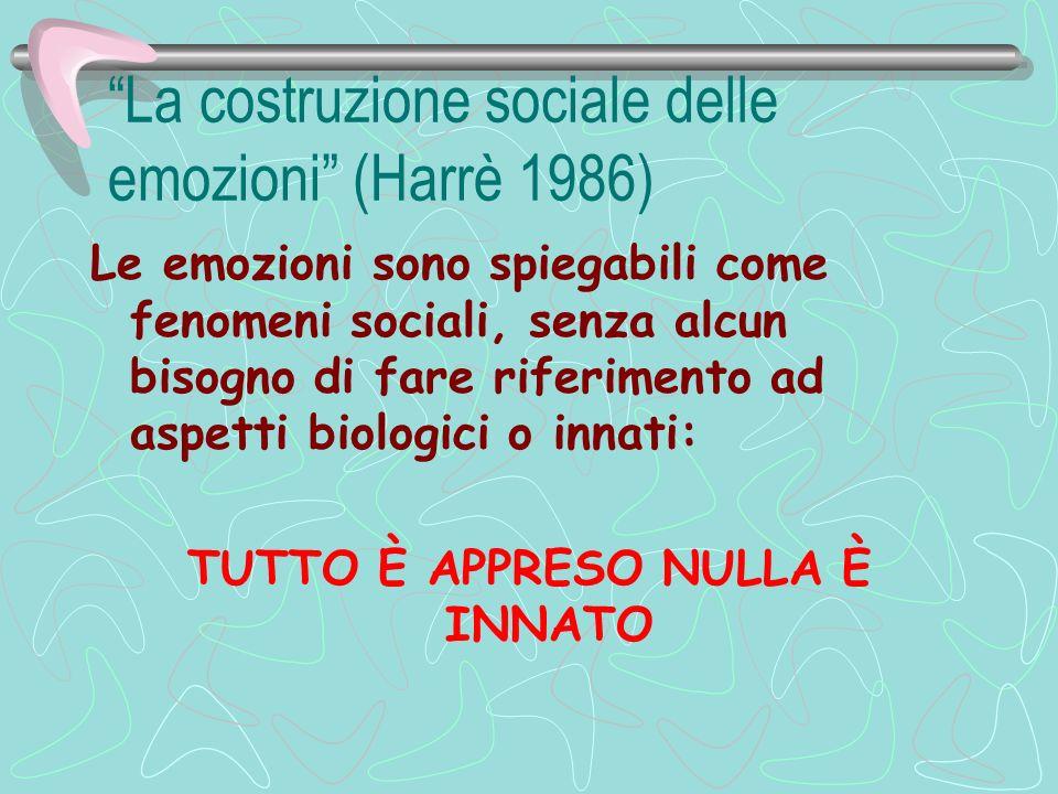 La costruzione sociale delle emozioni (Harrè 1986)