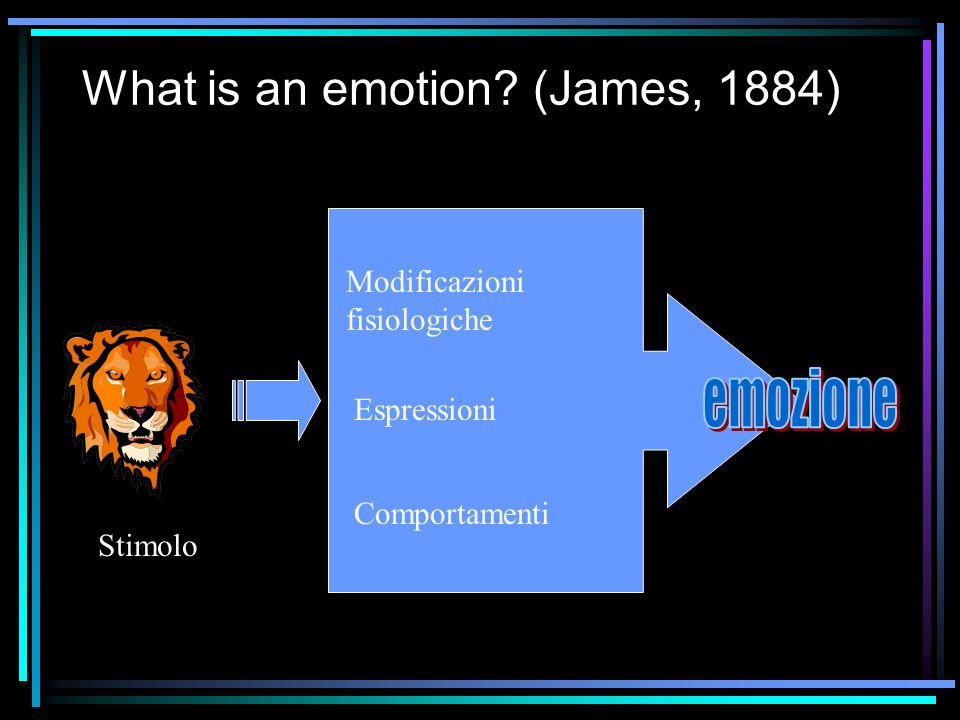 What is an emotion (James, 1884)