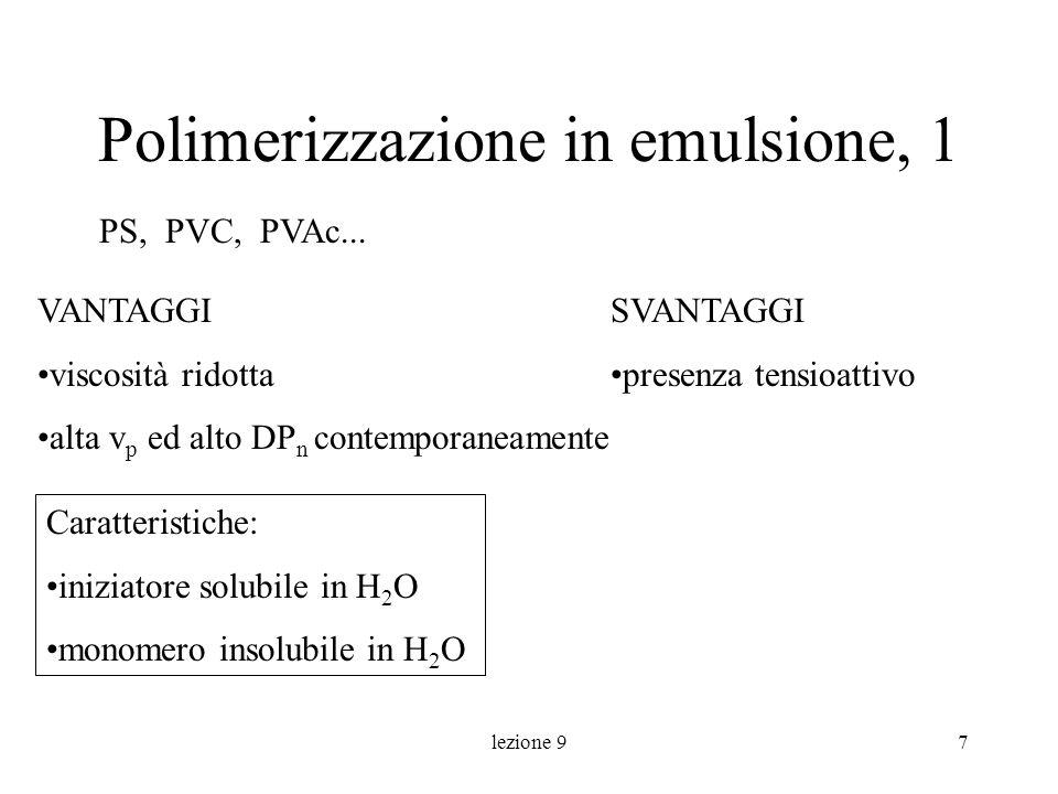 Polimerizzazione in emulsione, 1