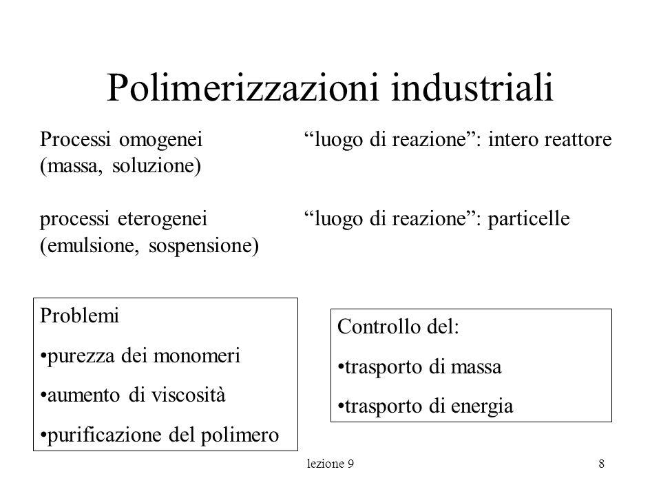 Polimerizzazioni industriali