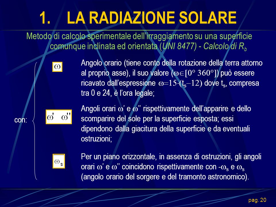 1. LA RADIAZIONE SOLARE