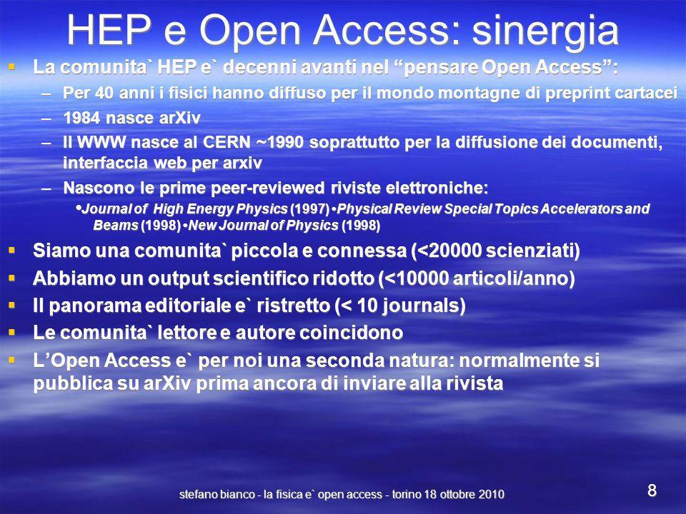 HEP e Open Access: sinergia