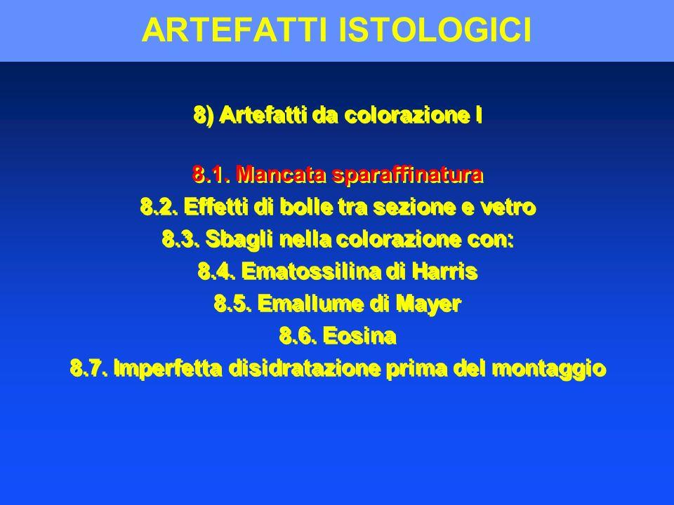 ARTEFATTI ISTOLOGICI 8) Artefatti da colorazione I