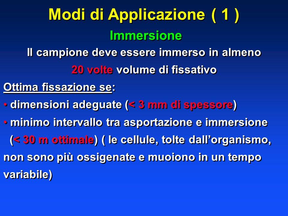 Modi di Applicazione ( 1 )