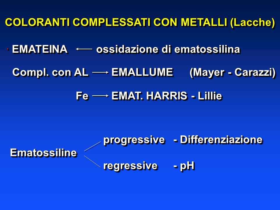 COLORANTI COMPLESSATI CON METALLI (Lacche)