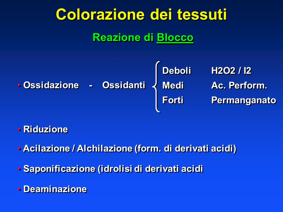 Colorazione dei tessuti