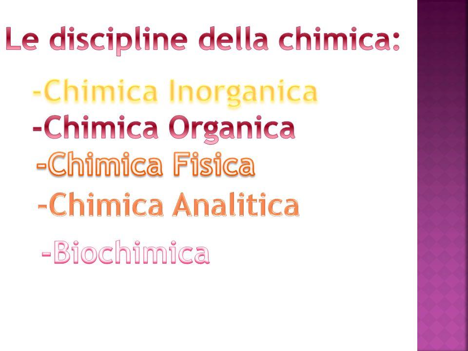 Le discipline della chimica: