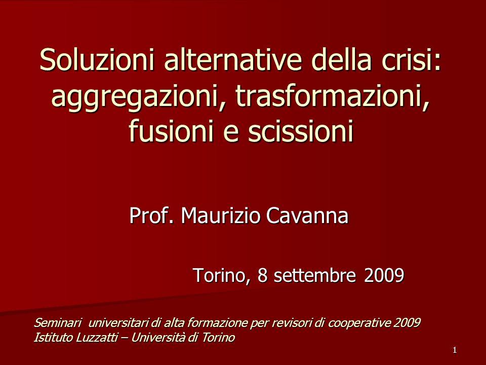 Prof. Maurizio Cavanna Torino, 8 settembre 2009