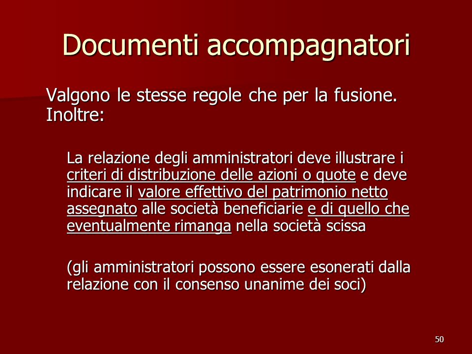 Documenti accompagnatori