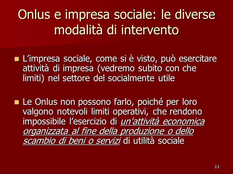 Onlus e impresa sociale: le diverse modalità di intervento