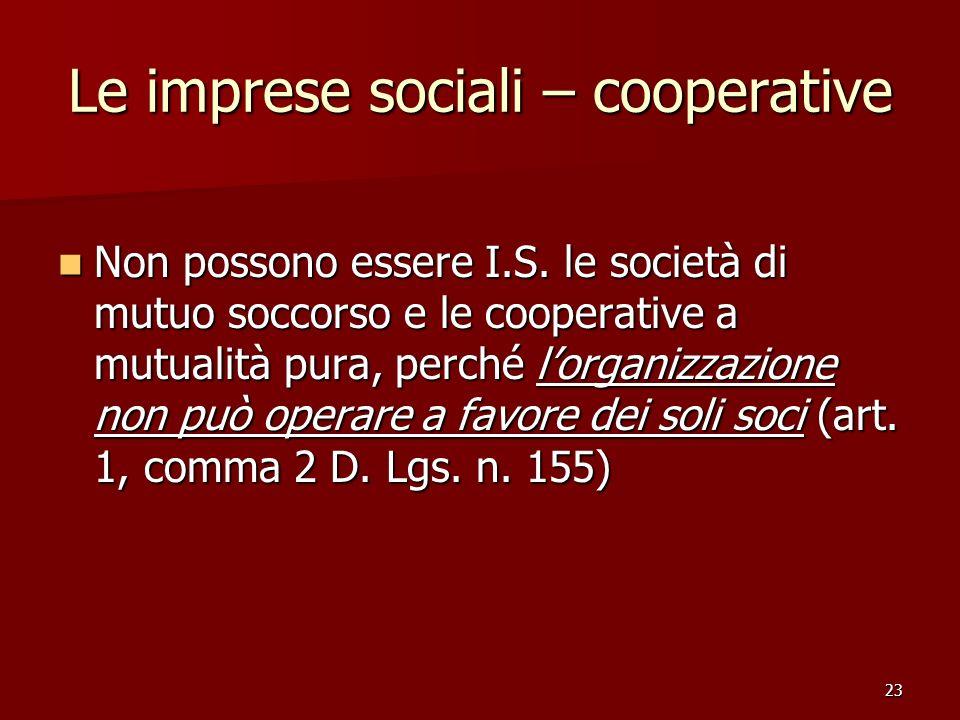Le imprese sociali – cooperative
