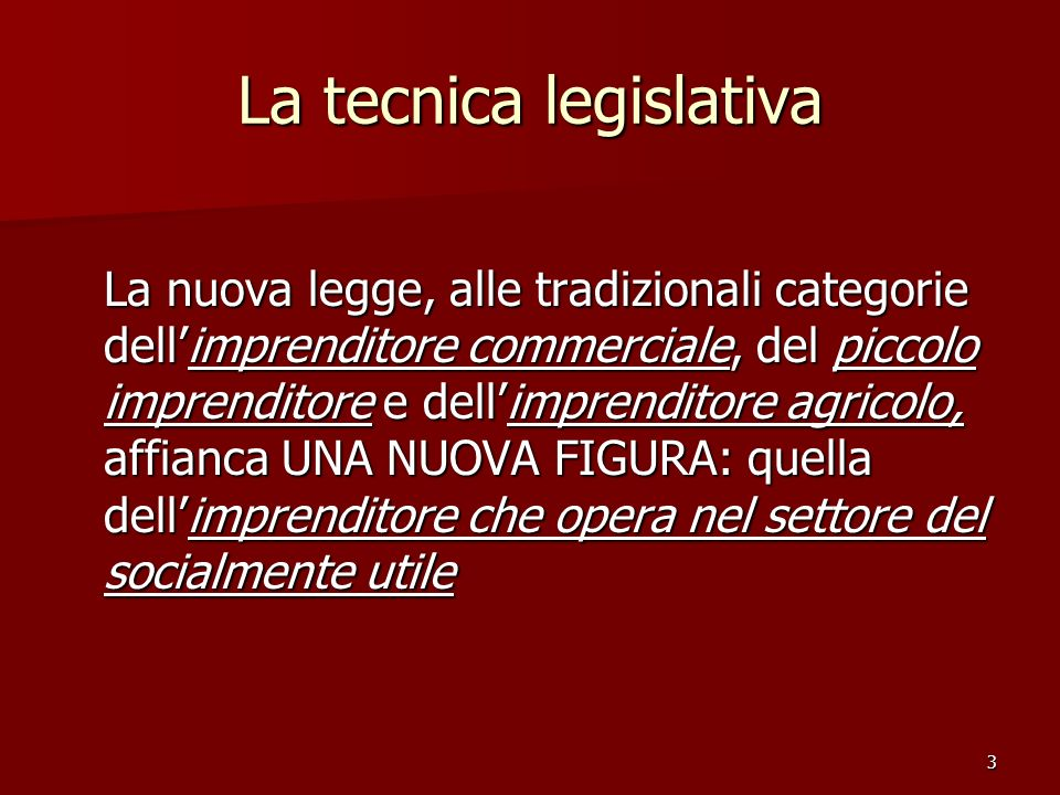 La tecnica legislativa