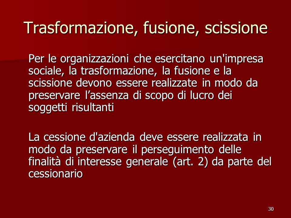 Trasformazione, fusione, scissione