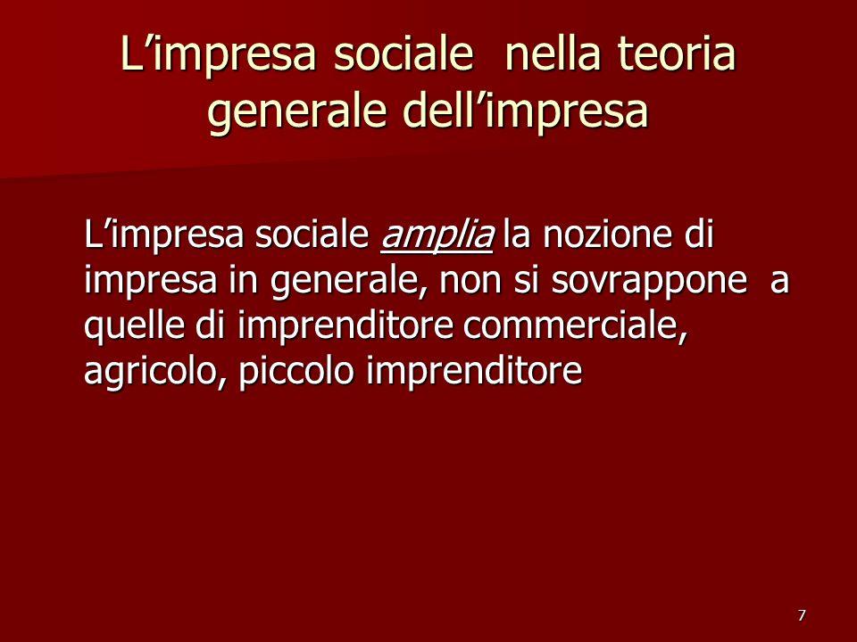 L'impresa sociale nella teoria generale dell'impresa