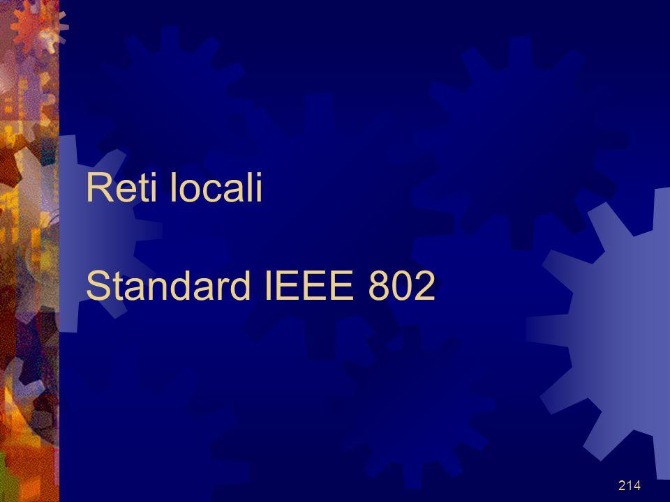 Reti locali Standard IEEE 802