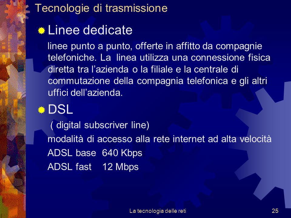 Tecnologie di trasmissione