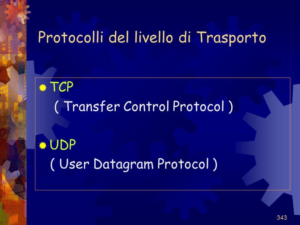 Protocolli del livello di Trasporto